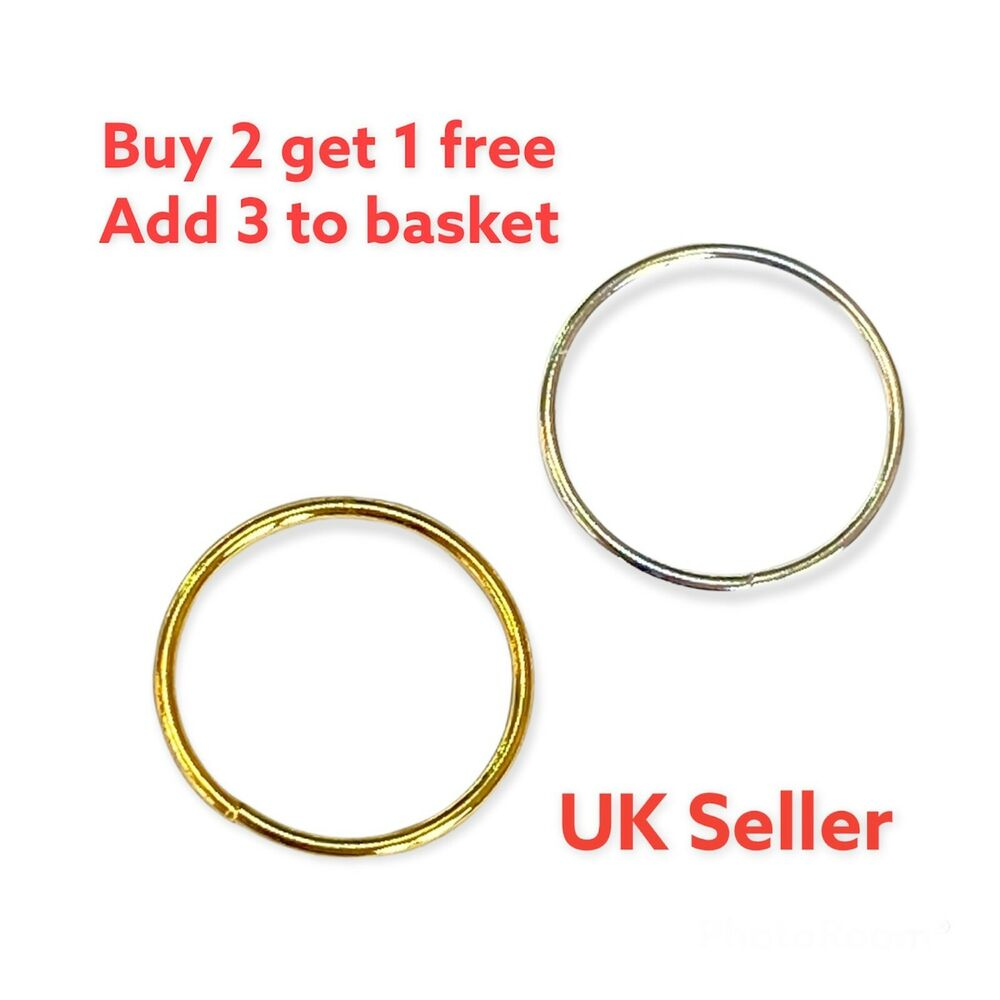 Sterling Silver And 14k Gold Plated Plain Nose Ring