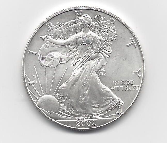 2002 1 Oz American Silver Eagle Coin One Troy Oz 999