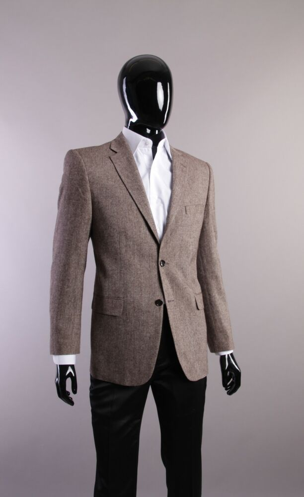 tweed sakko in hellbraun bis 56 herren anzug jacke sakko blazer ebay. Black Bedroom Furniture Sets. Home Design Ideas
