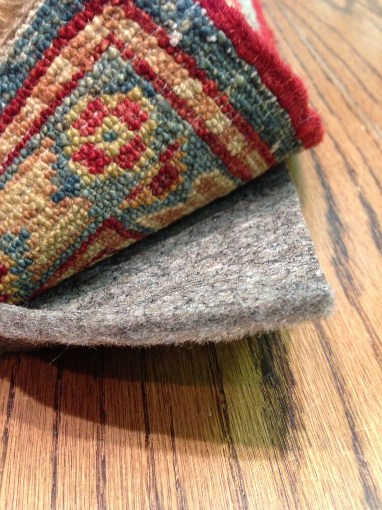 """5'x8' Full 1/4"""" Thick Shaw Recycled Felt Rug Pad for Hard ..."""