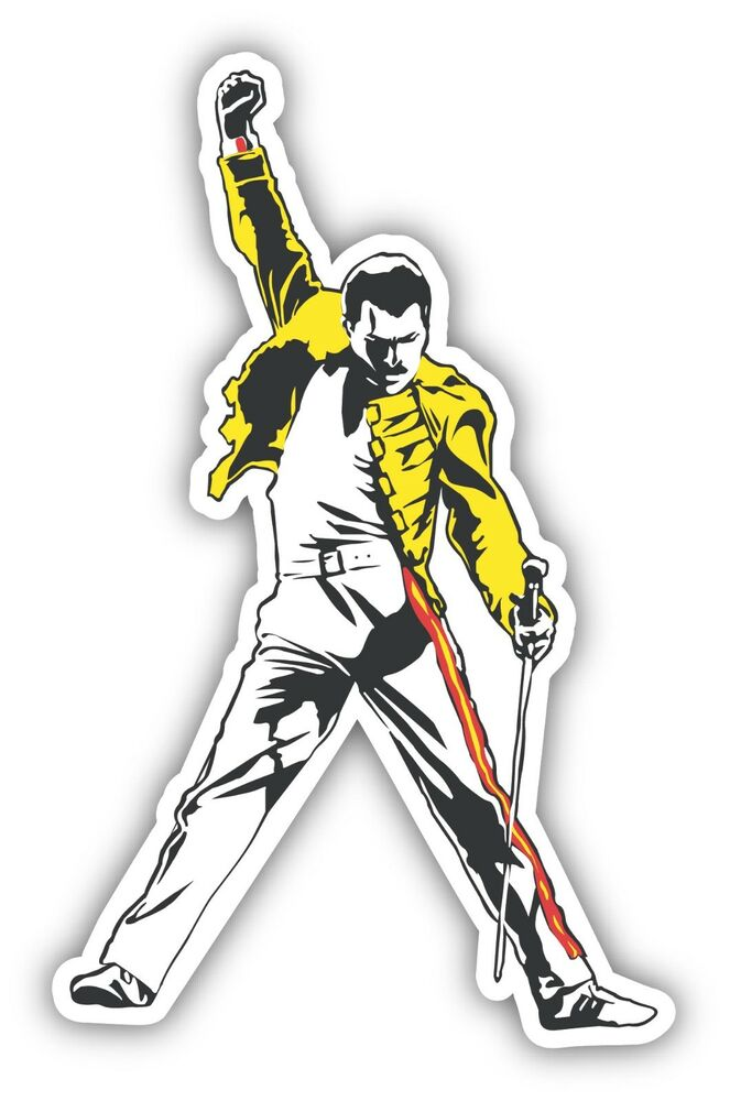 Freddie Mercury Queen Sticker Decal 3 Sizes Legend Vinyl