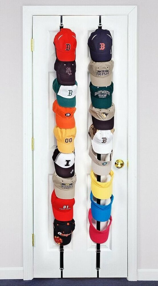 New baseball cap holder hanged overdoor wall stand hats for Baseball cap display ideas