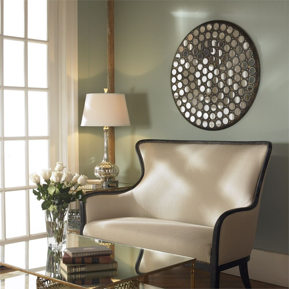 """Large 35"""" MIRRORED WALL ART Mosaic Tiled Contemporary ..."""