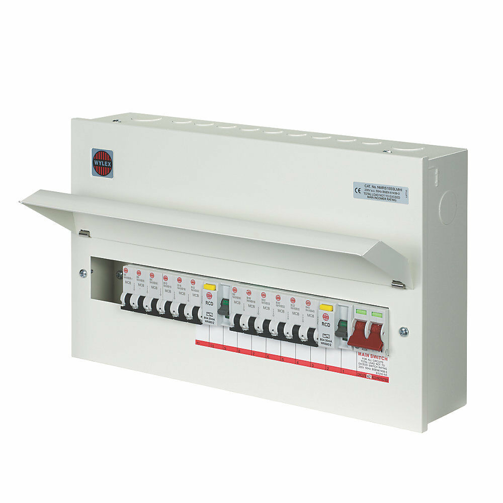 wylex amendment 3 15 way high integrity consumer unit fuse ... garage consumer unit wiring diagram #6