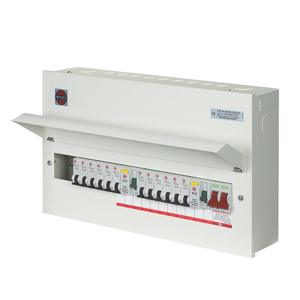wylex amendment 3 15 way high integrity consumer unit fuse