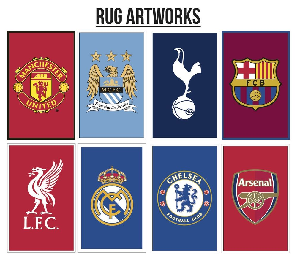Official Licensed Football Club Carpet Rug / Bedroom Mat