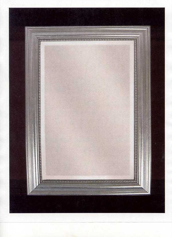 Boutique 37 classic silver framed wall mirror vanity for Silver framed floor mirror