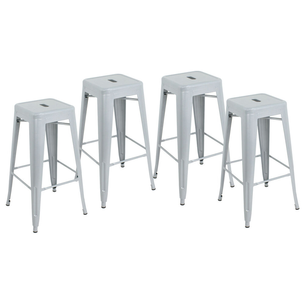 Metal Bar Stools Set of 4 Vintage Antique Style Counter  : s l1000 from www.ebay.com size 1000 x 1000 jpeg 50kB
