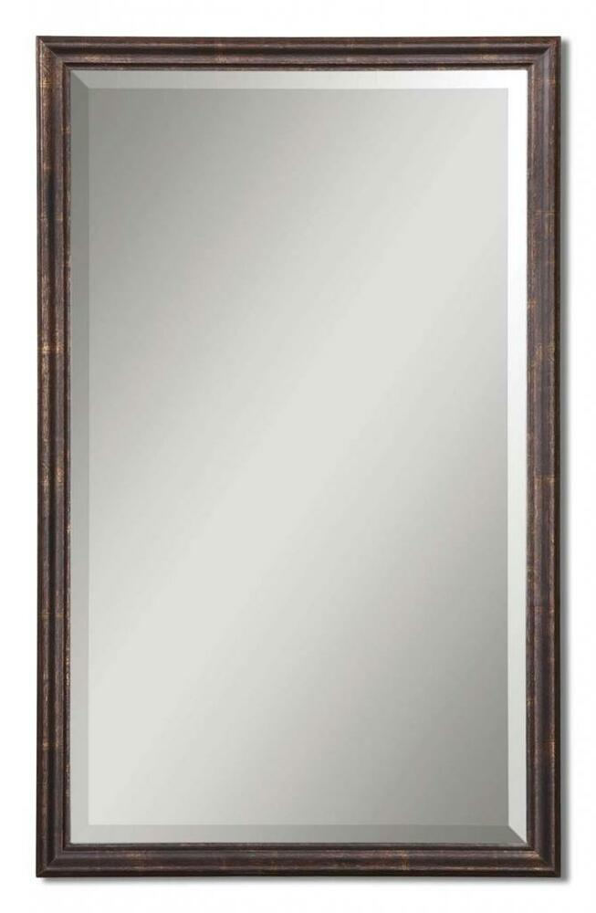Boutique 32 Antique Bronze Wall Mirror Thin Frame Vanity Classic Traditonal Ebay