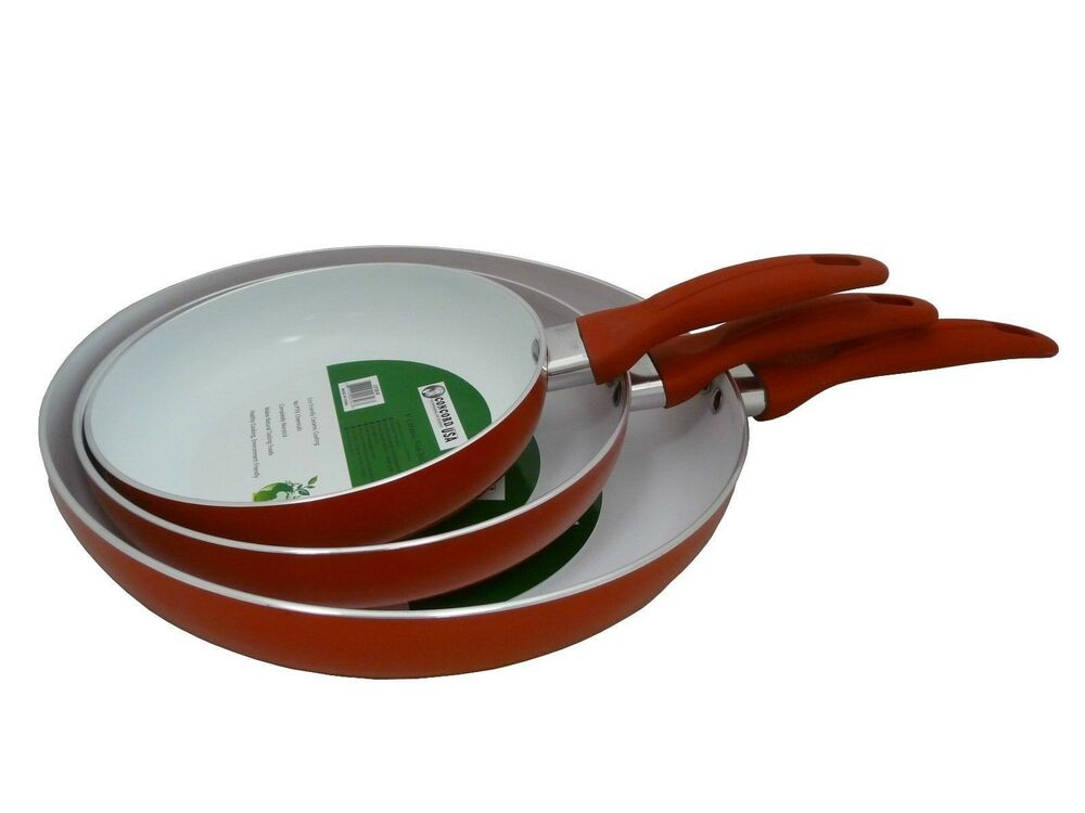 Concord Eco Friendly Healthy Ceramic 3 Pc Nonstick Fry Pan