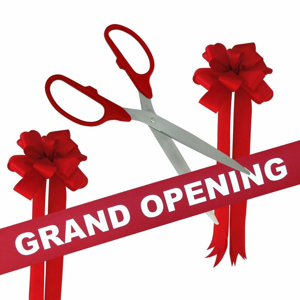 36 Quot Red Silver Ceremonial Ribbon Cutting Scissors Grand