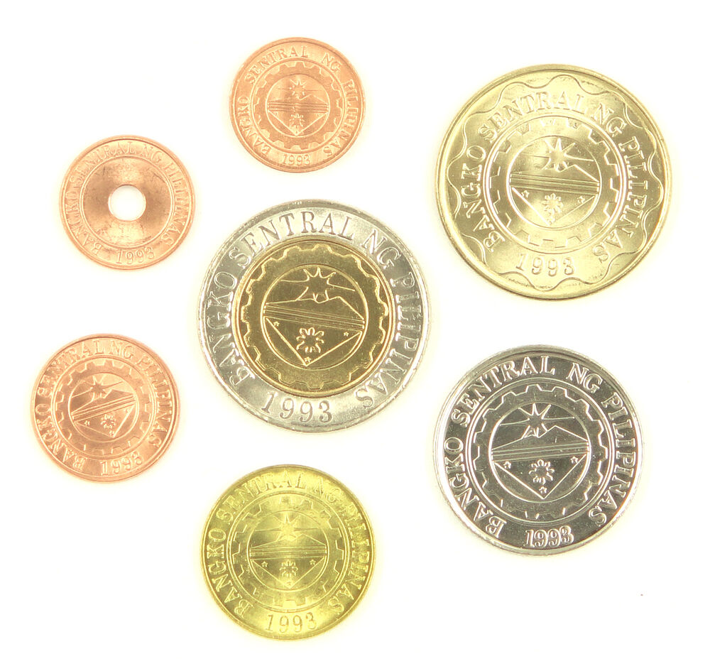 Coin Ph: Philippines Coins Set Of 7 Pieces UNC