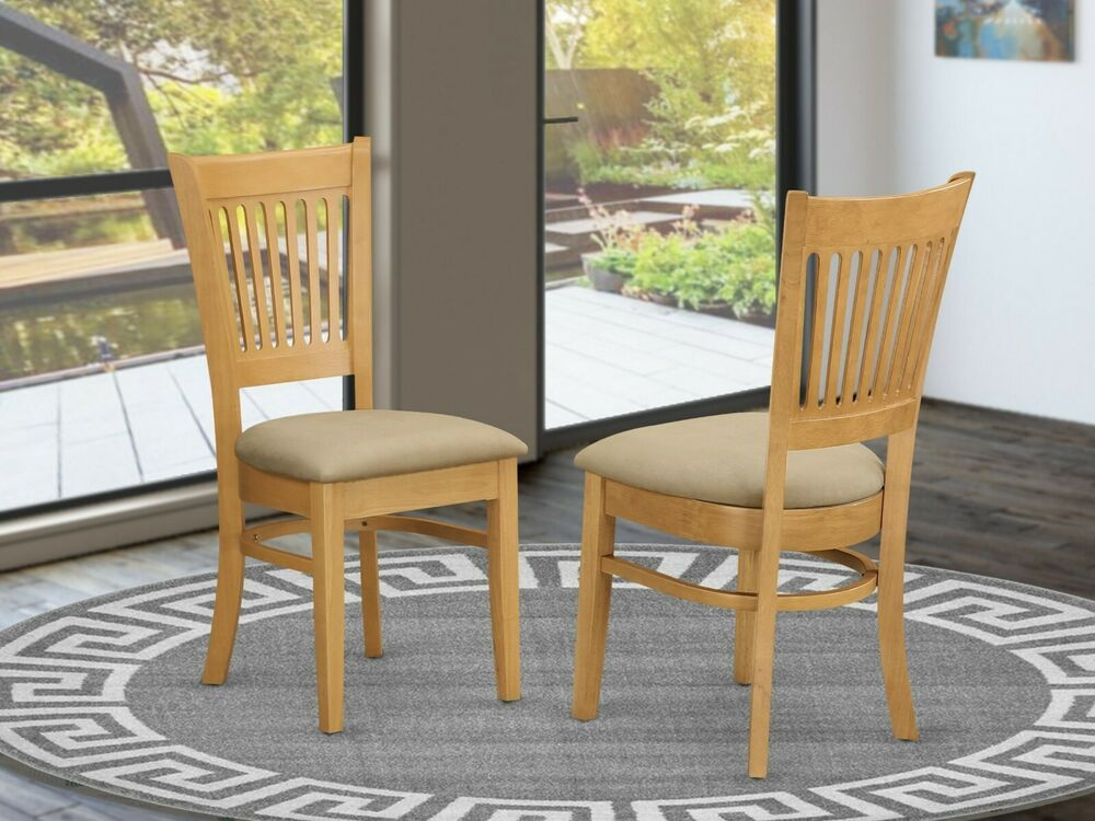 Set of 6 vancouver dinette kitchen dining chairs with for Kitchen and dining room chairs