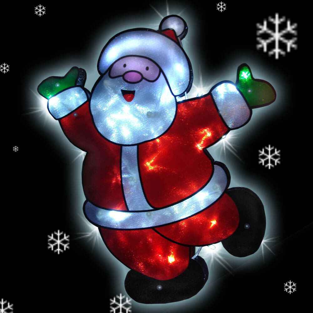 42cm Christmas LED Lights SANTA CLAUS Decoration