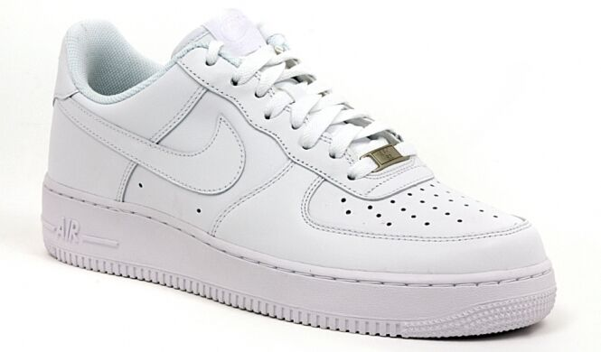 best sneakers ae510 c7211 scarpe Nike Air Force One 1 low da uomo pelle Bianche basse 315122-111 44  45 46 | eBay