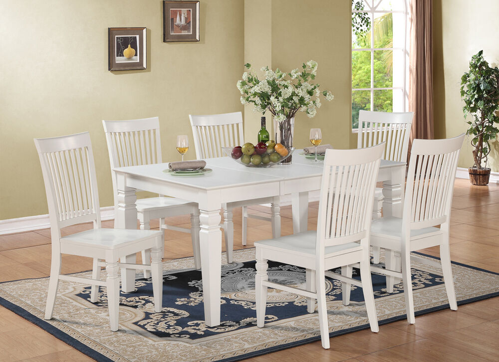 5PC SET RECTANGULAR DINETTE DINING TABLE WITH 4 WOOD SEAT ...