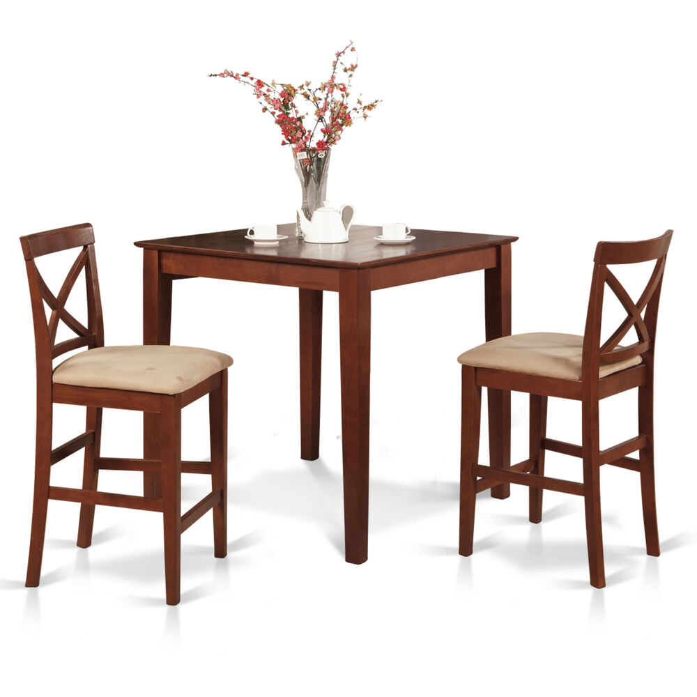3pc counter height pub set 36x36 table 2 bar stool