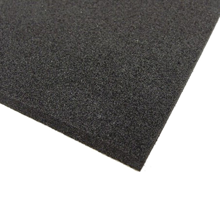 Black Neoprene Plain Sponge Foam Rubber Sheet Various