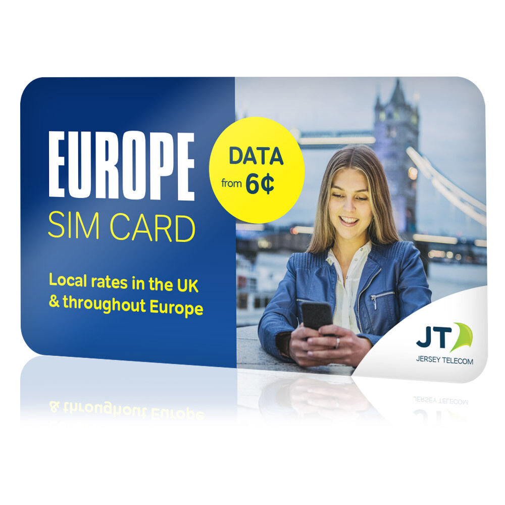 France, Spain, Italy, Germany Prepaid Travel SIM Card For
