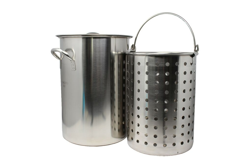 Concord Stainless Steel Stock Pot W Basket Heavy Kettle