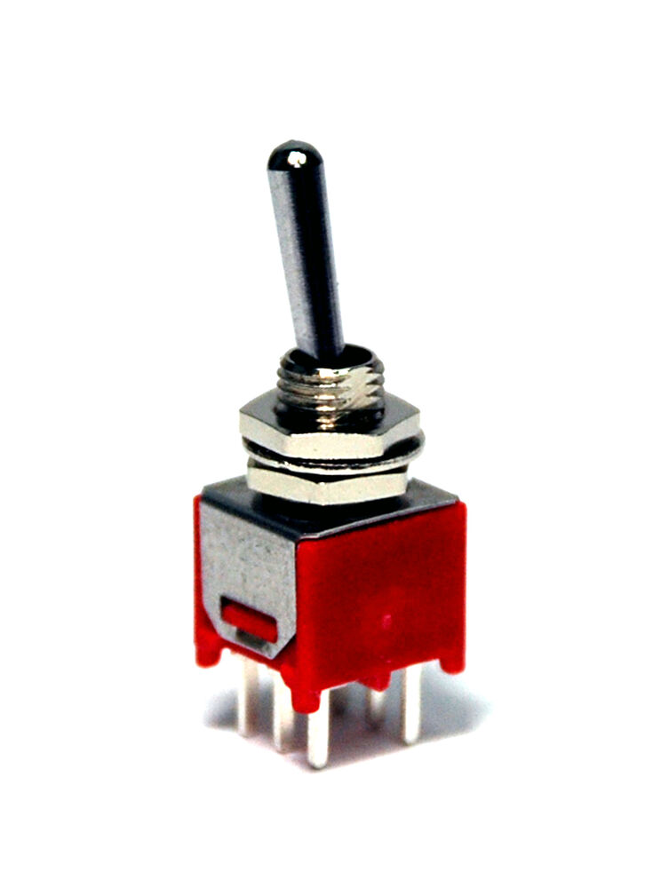 10pc Sub Miniature Toggle Switch 2md1t1b1m2qes On On 6p