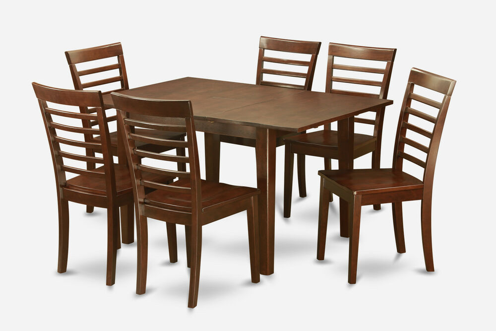 kitchen furniture set 7 pc set rectangular dinette kitchen table with 6 wood 13306