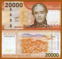 Chile, 20000 (20,000) Pesos, 2009, P-New, UNC