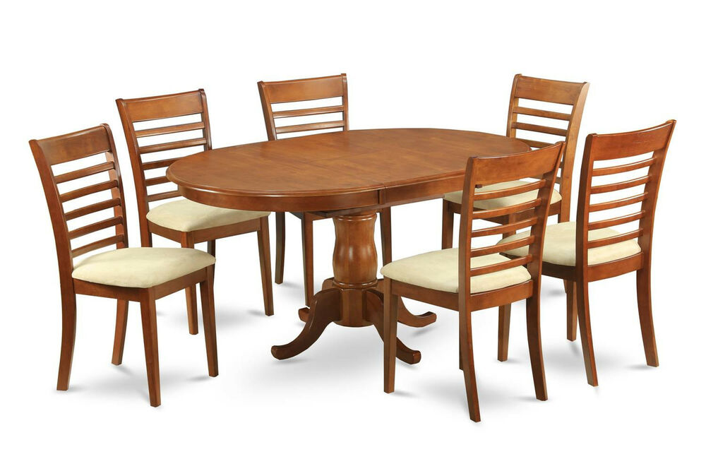 5pc oval dinette kitchen dining table 4 upholstered for Kitchen table with 4 chairs