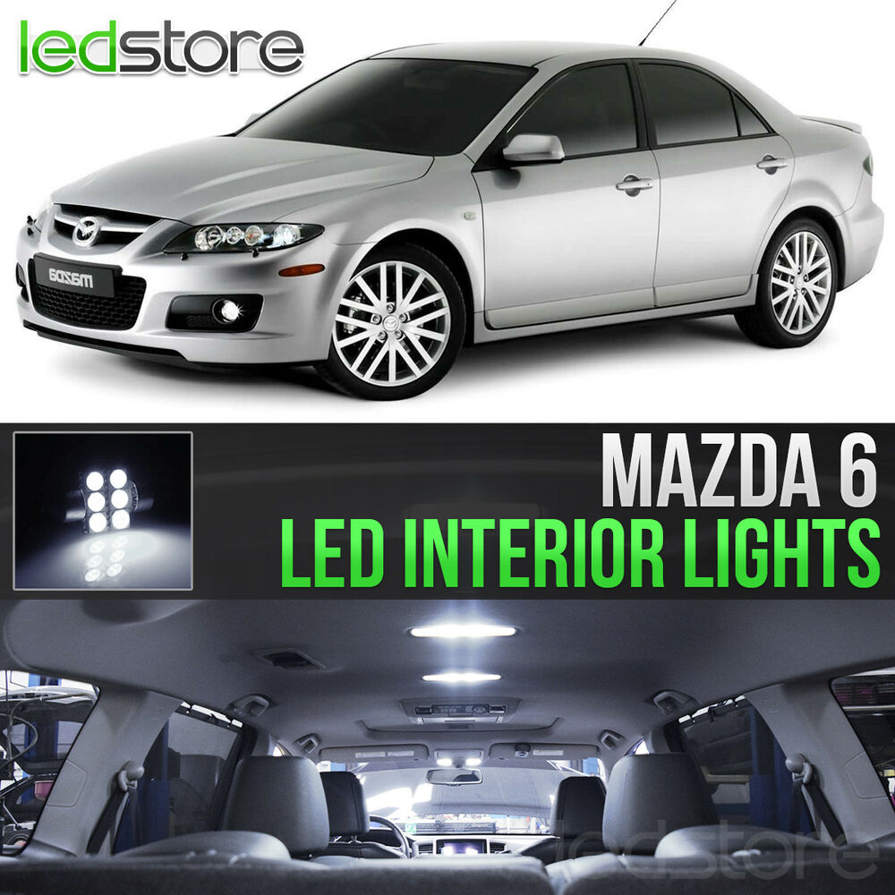 2003-2008 Mazda 6 White LED Lights Interior Kit MazdaSpeed