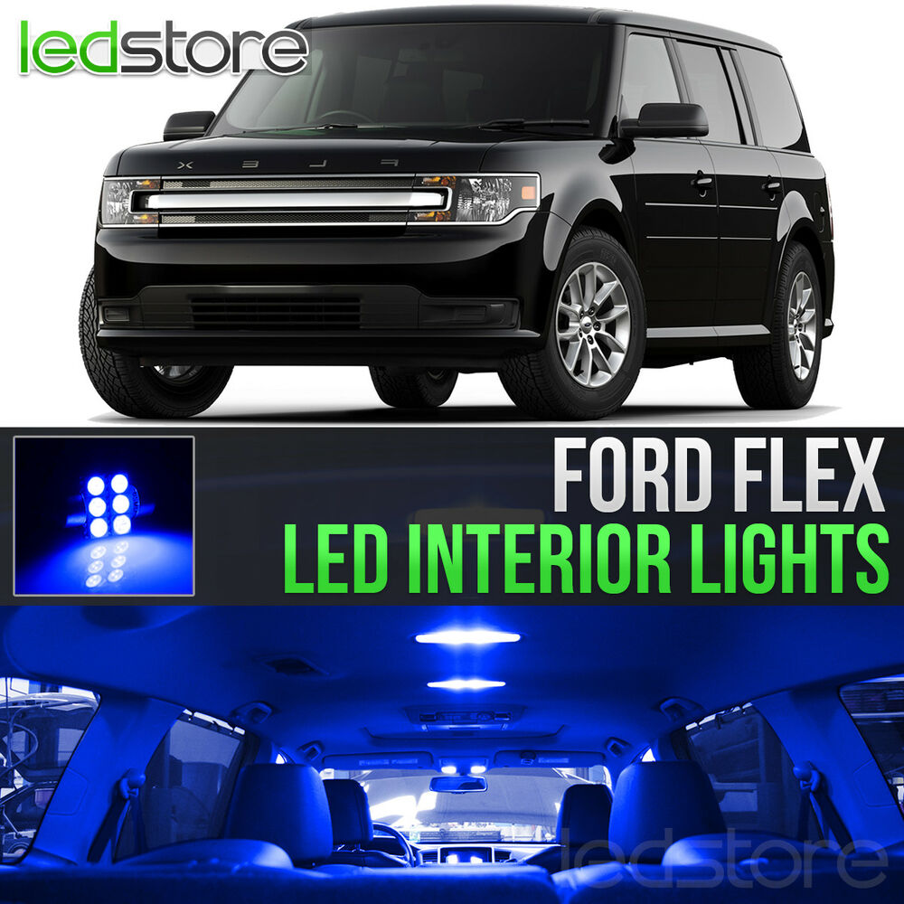 2010 2015 ford flex blue led lights interior kit ebay. Black Bedroom Furniture Sets. Home Design Ideas
