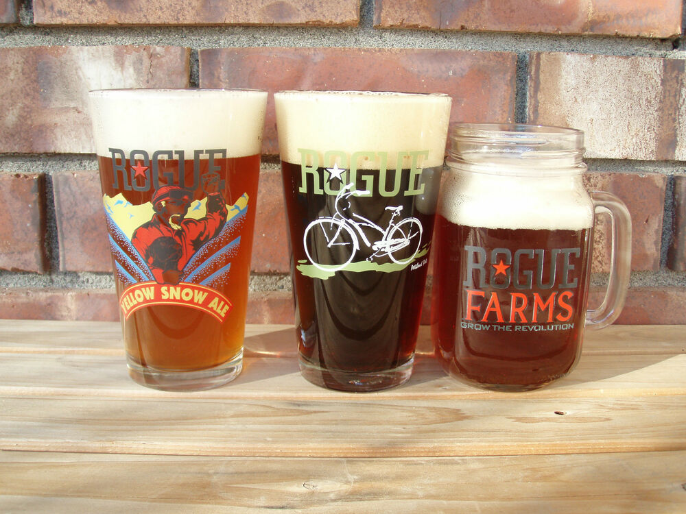 craft beer co rogue ales brewing co pint glass craft micro brew 1402