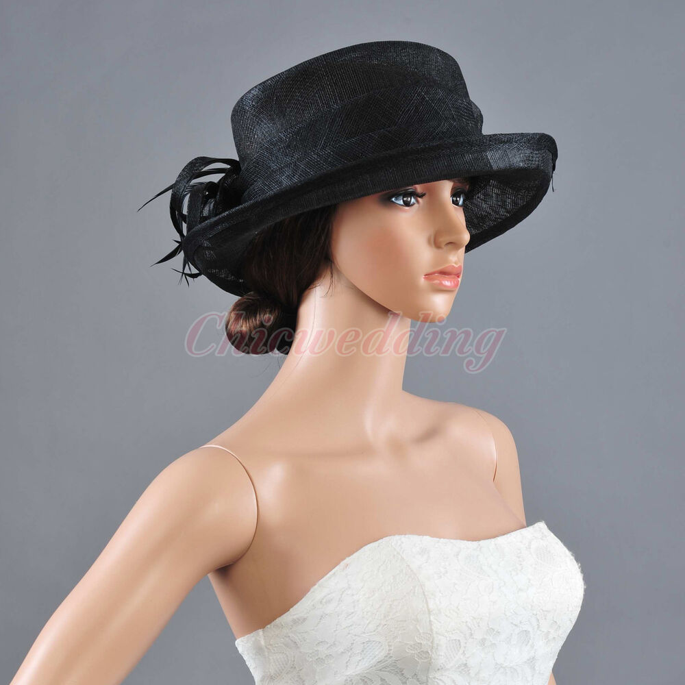 Newest Ladies Church Hat Kentucky Derby Hat Sinamay Wide ...