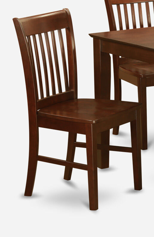 Set Of 4 Norfolk Dinette Kitchen Dining Chairs W Plain