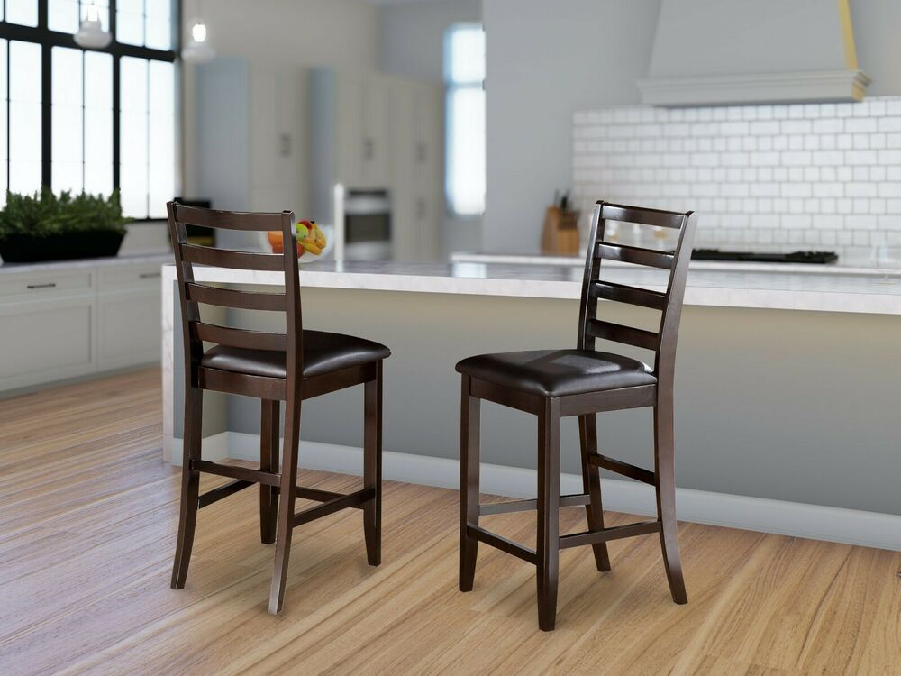 Set Of 4 Fairwinds Counter Height Bar Stool Chairs Faux