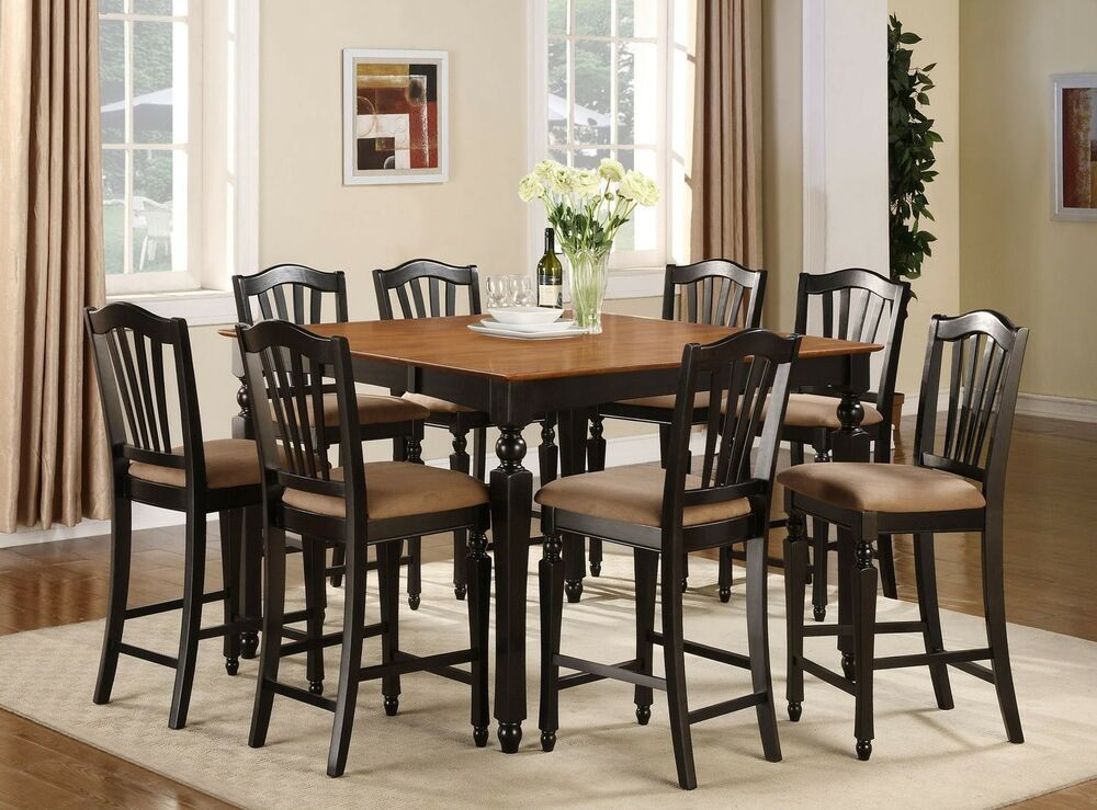 Dining Sets Oakleigh Living And Dining: Chelsea 7pc Set Counter Height Table + 6 Microfiber Padded