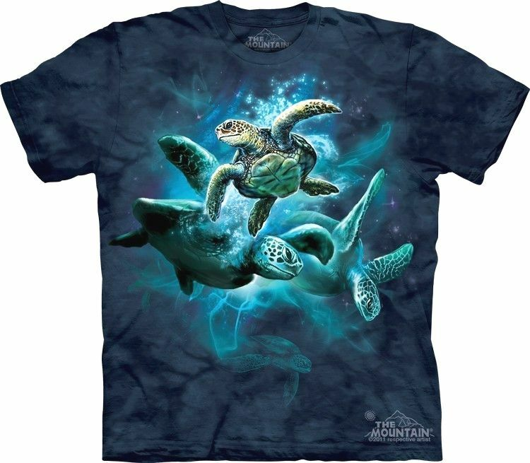The mountain sea turtle collage aquatic reptile marine for Turtle t shirts online