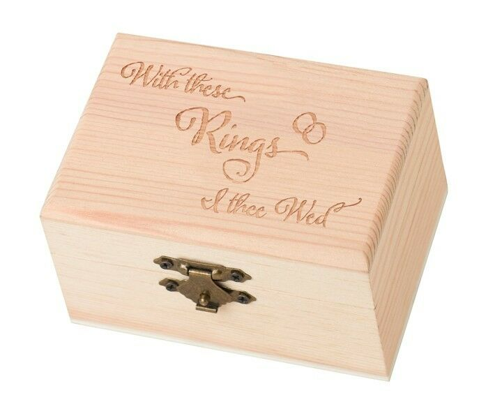 """""""With These Rings I Thee Wed"""" Ring Bearer Box Rustic"""