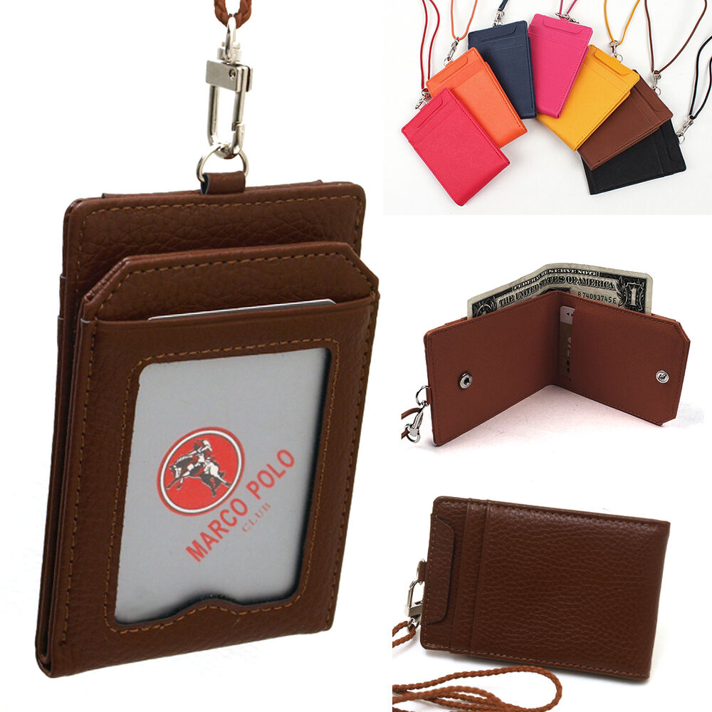 New Credit Card ID Business Card Holder Wallet Necklace ...