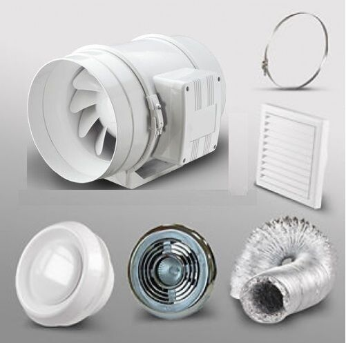 4 bathroom extractor fan led light kit shower room loft - Bathroom ceiling extractor fan with light ...