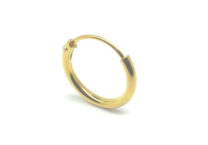 Mens Single Sterling Silver Or 14ct Gold Plated Hoop