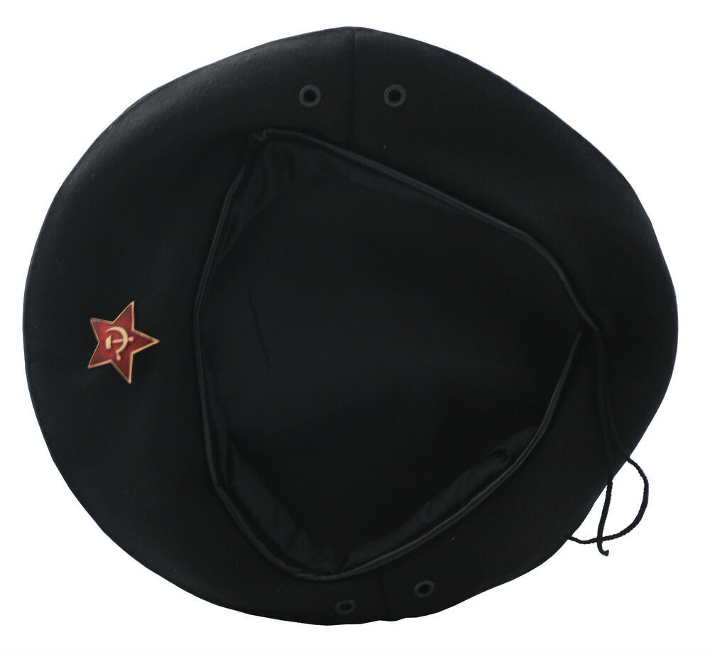 USSR Soviet Russian Army Style Black CHE GUEVARA Beret Hat