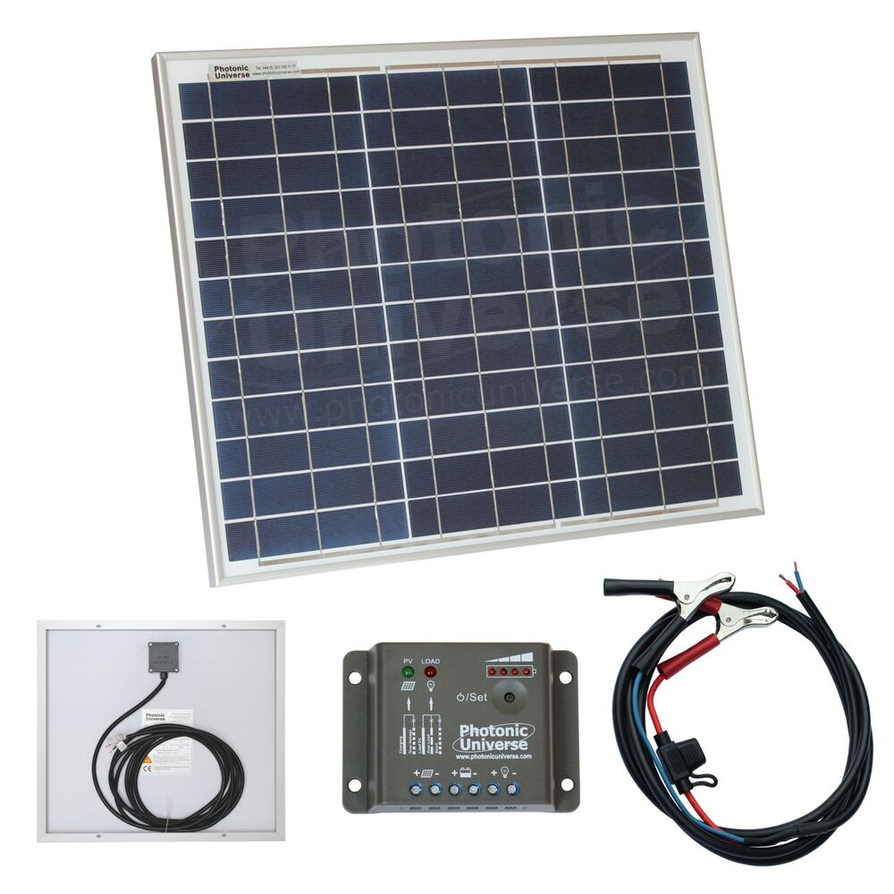 30w Solar Panel Kit 12v Battery Charger For Motorhome