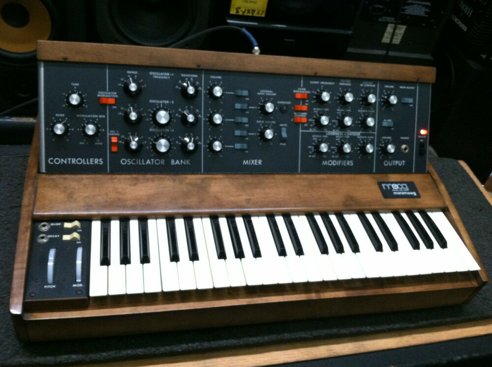 original vintage moog minimoog model d old osc analog