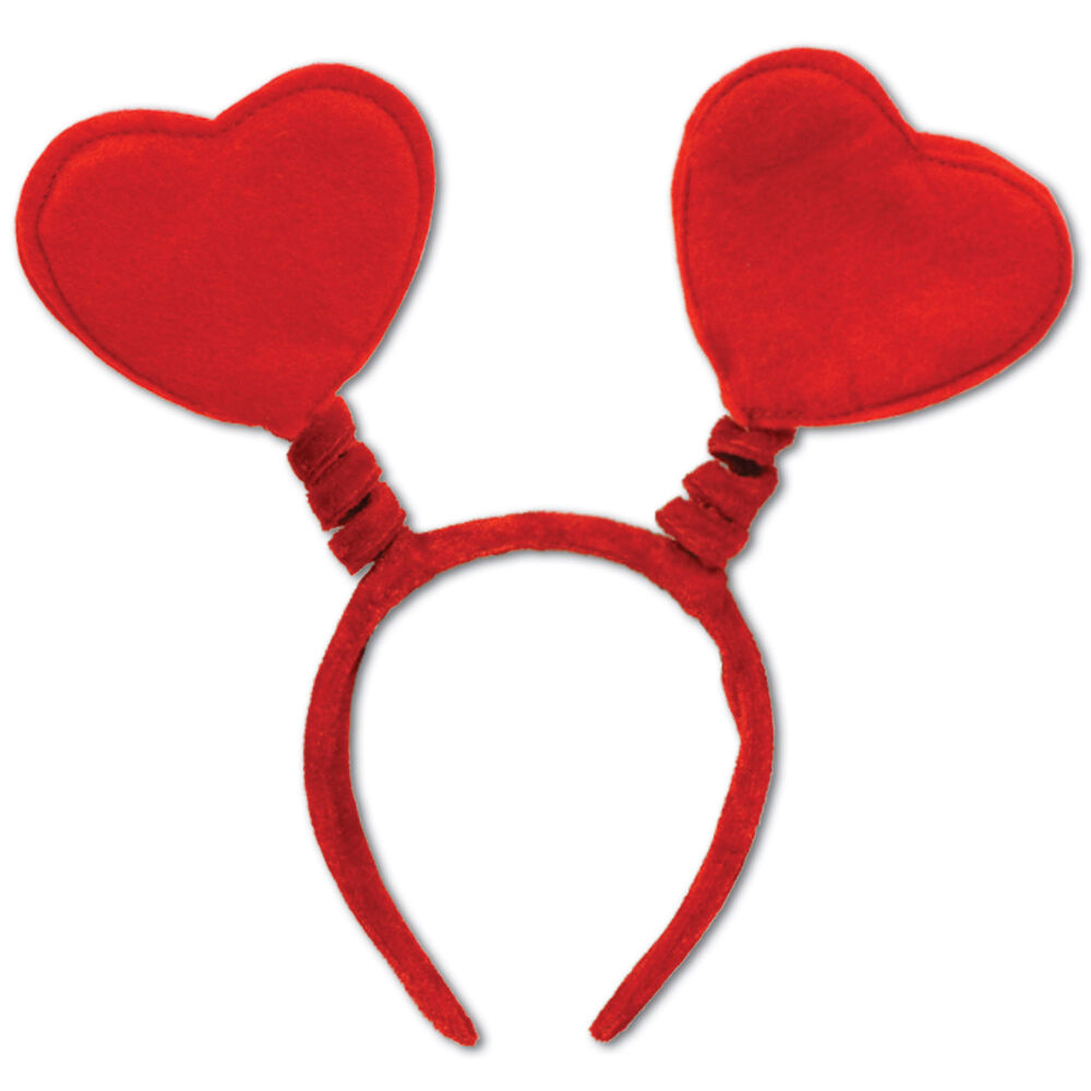 1 VALENTINE'S DAY Party ACCESSORY Headband Soft Touch RED HEART HEAD BOPPERS | eBay