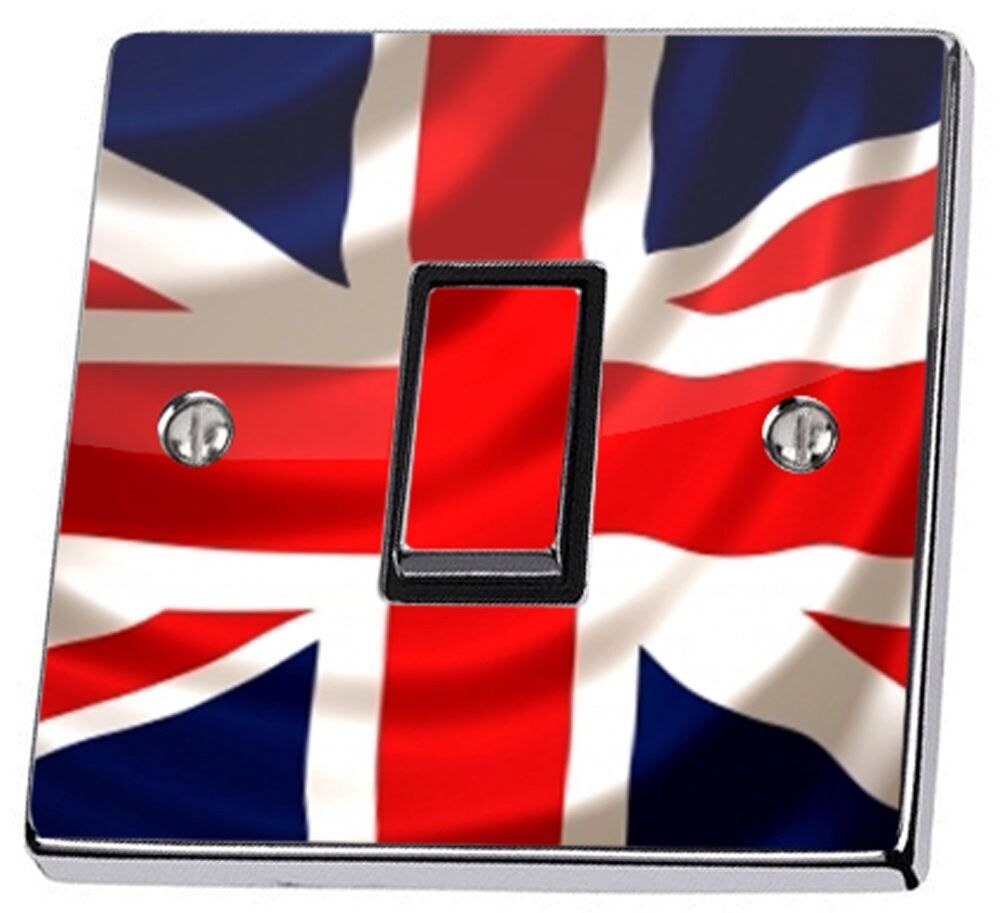 Union Jack Uk British Flag Light Switch Sticker Vinyl