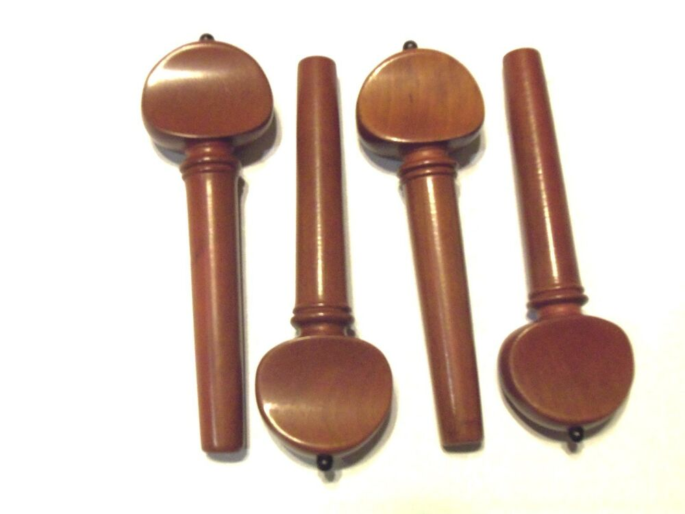 Violin pegs boxwood french with black style