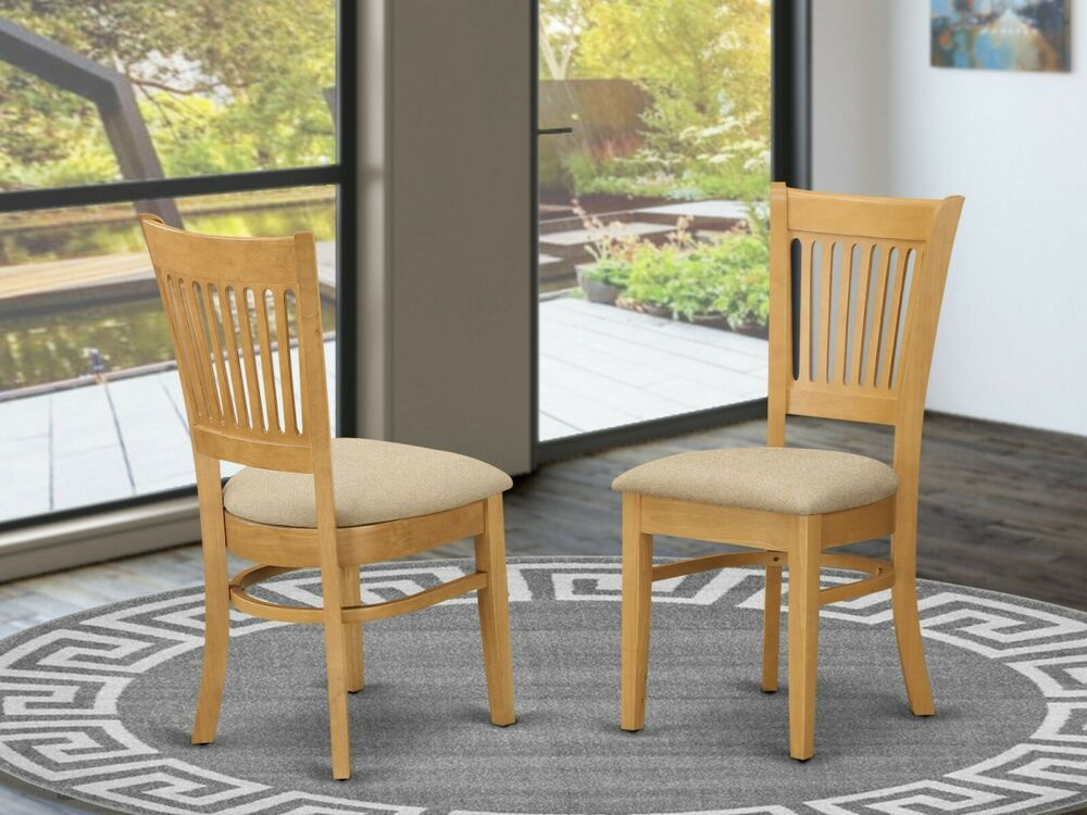 Set of 4 vancouver dinette kitchen dining chairs with for Oak dining chairs
