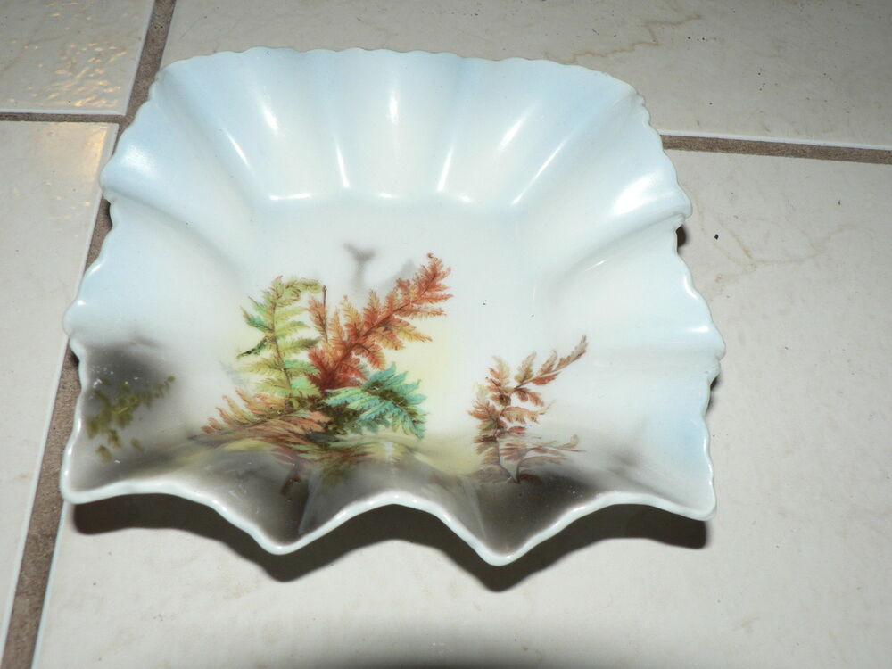 Antique Vintage Bavaria German Porcelain Dish Bowl Hand