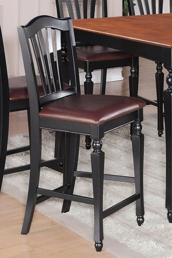 Set Of 4 Chelsea Kitchen Counter Height Chairs With Faux