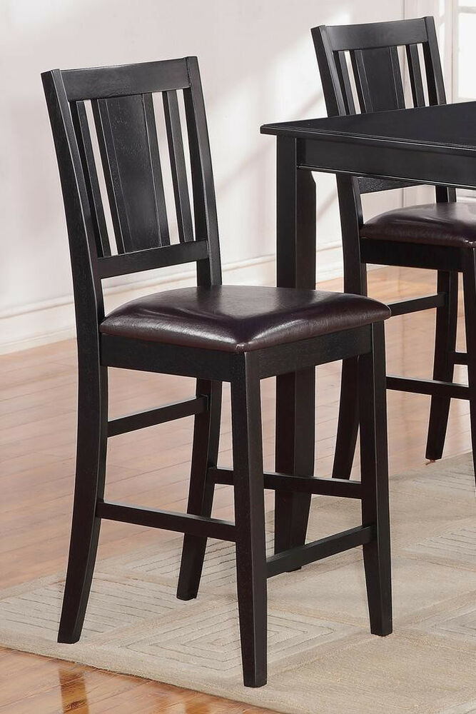Counter Height Chairs Set Of 4 : Set of 4 Buckland kitchen counter height chairs with faux leather seat ...